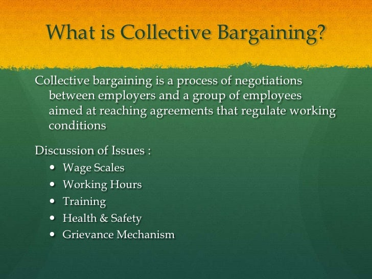 what is collective bargaining Collective bargaining is a vital process in labor-management relationships in the united states in this lesson, you will learn what collective.