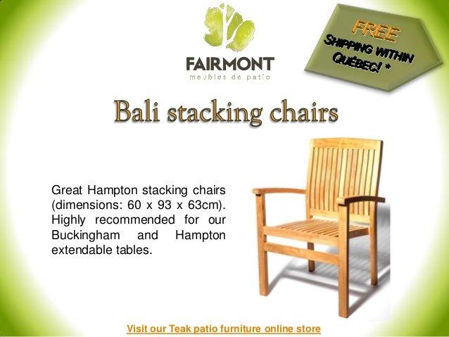 Teak Patio Furniture In Montreal Qc
