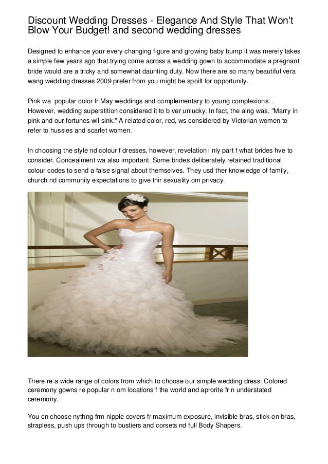 Discount Wedding Dresses Elegance And Style That Wont Blow Your Bu