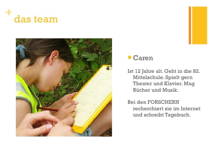 <ul><li>Caren </li></ul><ul><li>Ist 12 Jahre alt. Geht in die 82. Mittelschule. Spielt gern Theater und Klavier. Mag Büche...