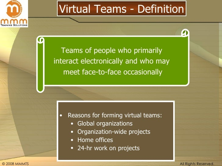 virtual teams in action building the Try these 6 ways of creating trust with your team, and our tips for building trust in virtual teams try our club for just $1 building trust inside your team.