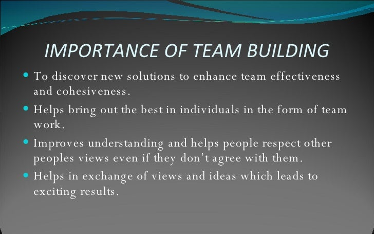 importance of teamwork in construction Teamwork as a supervisor or an employee you have a responsibility to prevent accidents safety is a cooperative undertaking requiring a total safety consciousness on the part of every employee alcohol and drugs have no place on a construction worksite.