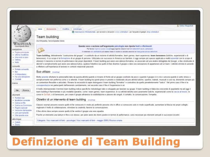 Definizione di Team Building