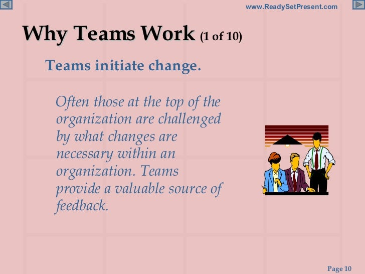 teams in organizations essay What differences make a difference the promise and reality of diverse teams in organizations show all authors elizabeth teams embedded in organizations.
