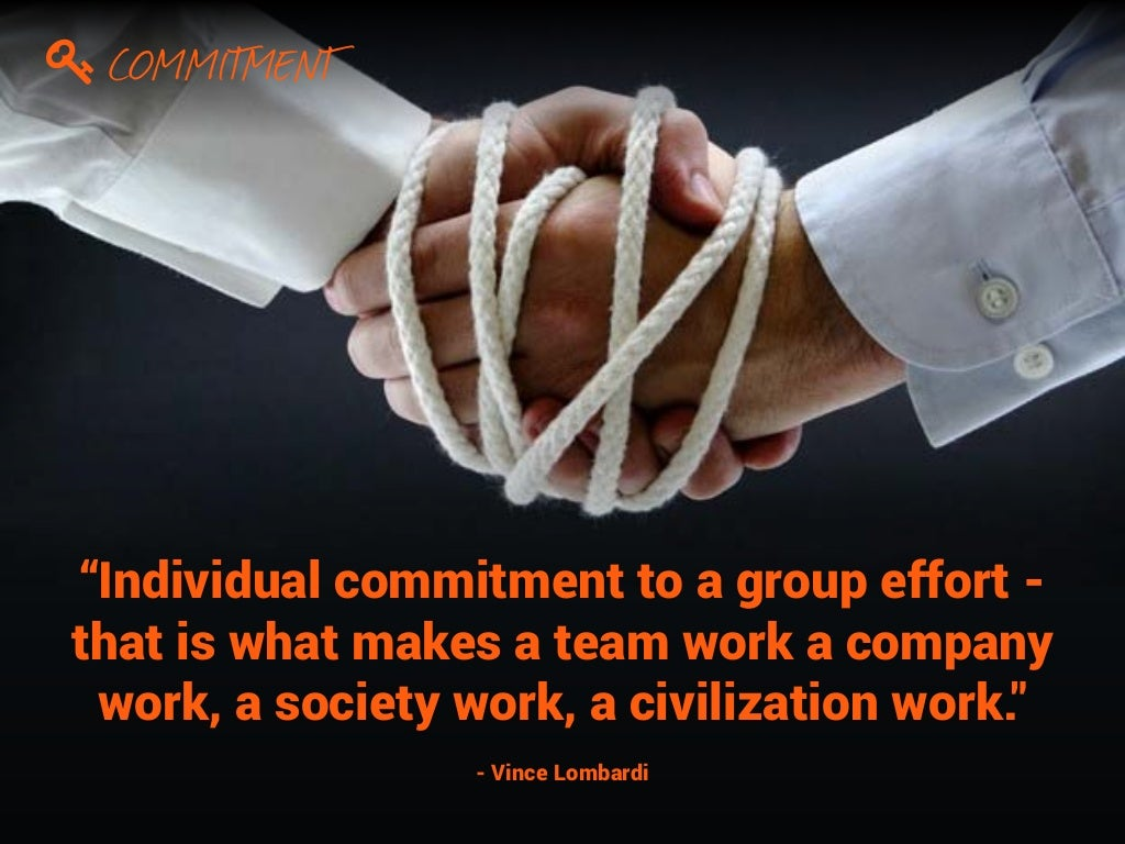 individual commitment to a group