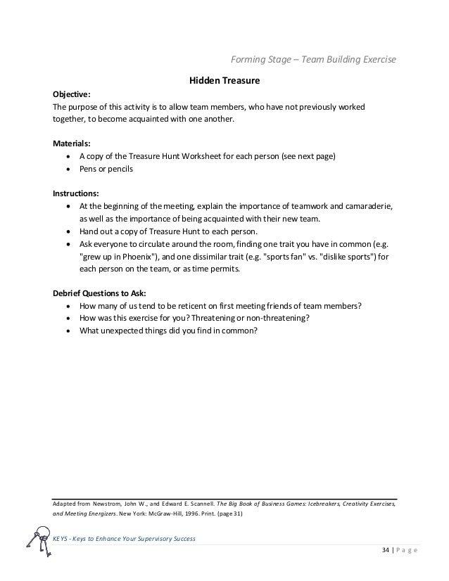 Team Building Toolkit Keys
