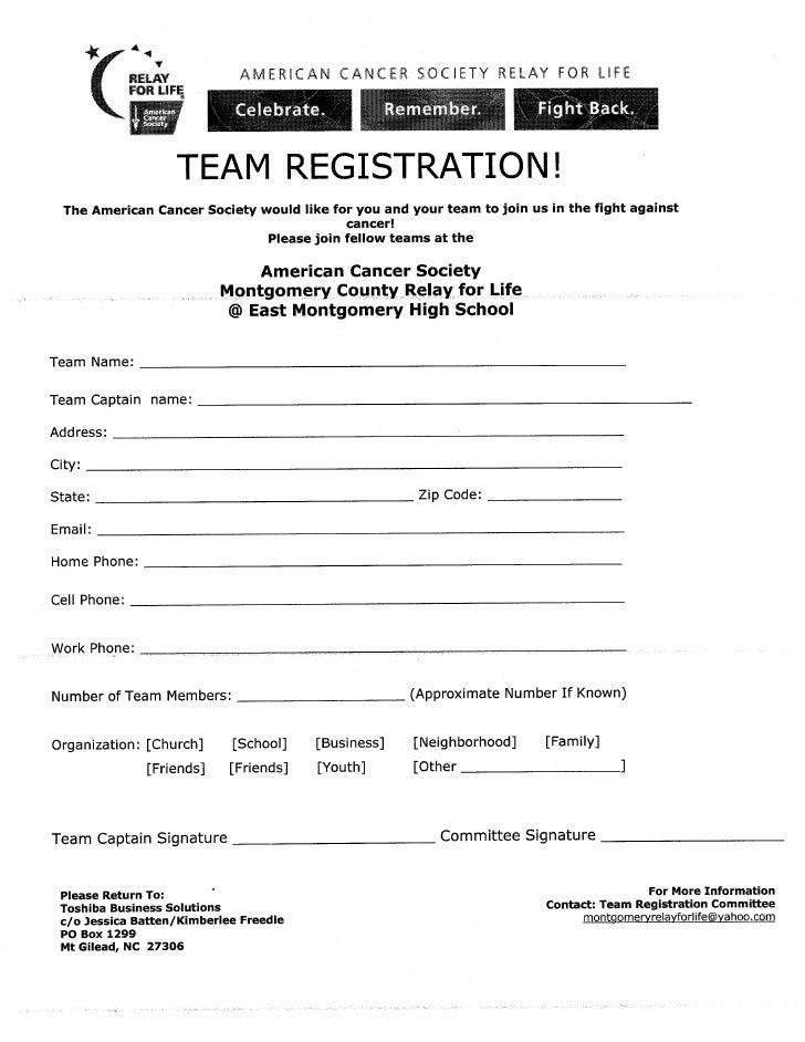 Team registration form altavistaventures Image collections
