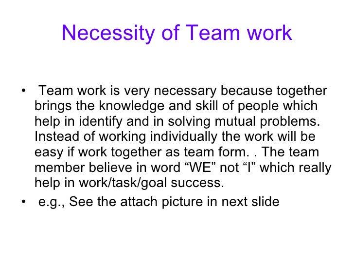 team work presentationn slide