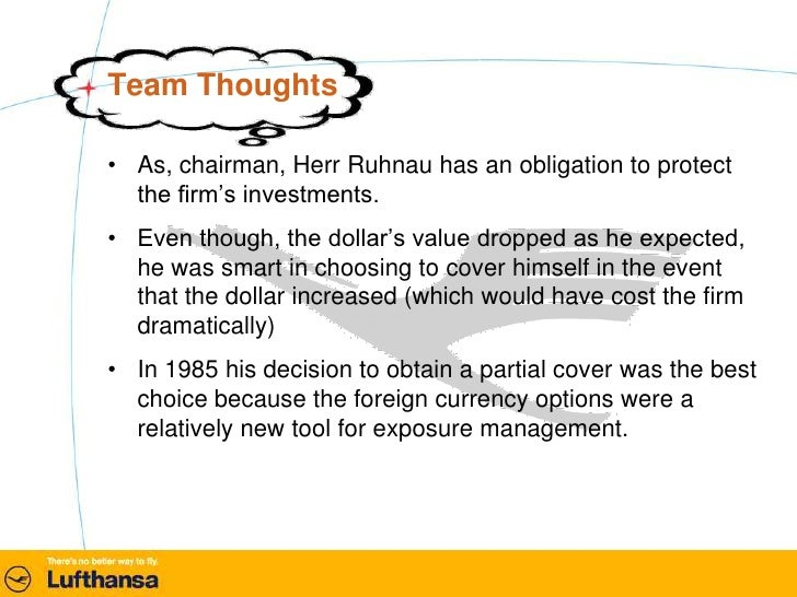 Given these criticisms should the board of lufthansa retain herr heinz ruhnau as chairman