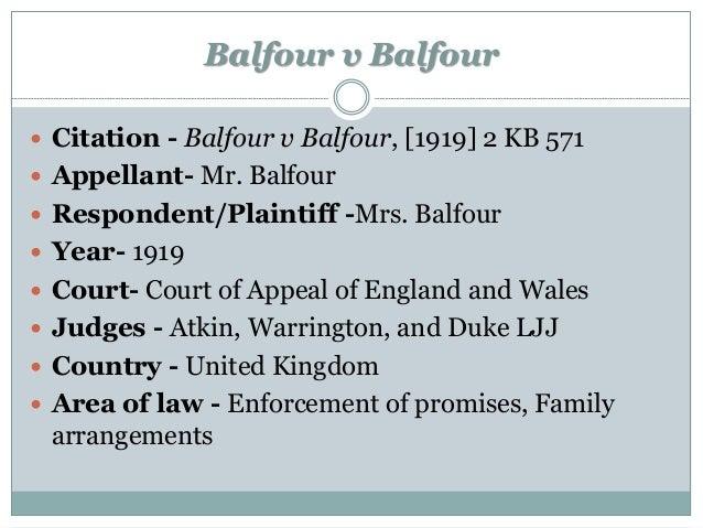 balfour v balfour 1919 summary