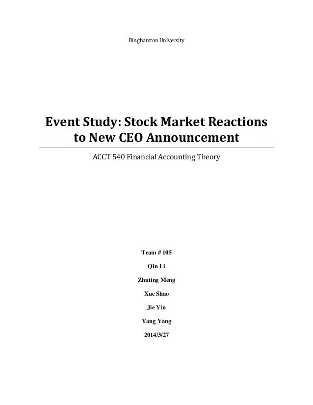 event study market reactions to new ceo announcement
