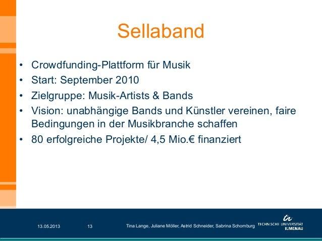 • Crowdfunding-Plattform für Musik• Start: September 2010• Zielgruppe: Musik-Artists & Bands• Vision: unabhängige Band...
