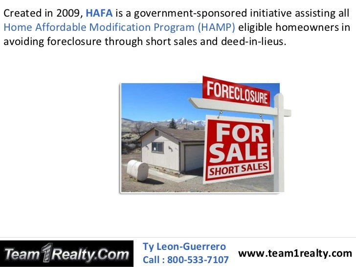 Home Affordable Foreclosure Alternatives Program Hafa
