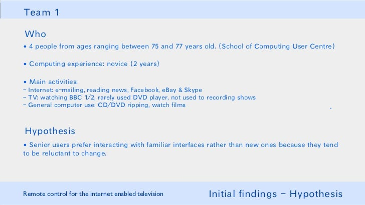 HCI: Internet-Enabled TV Remote Control
