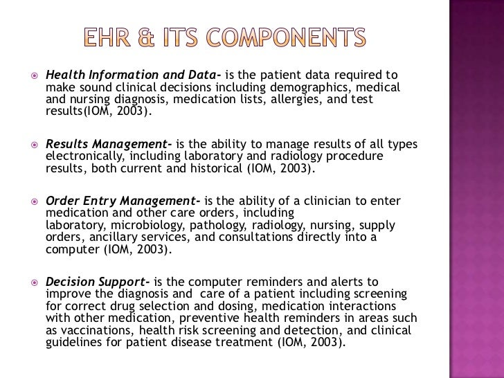 Computer Information Systems And The Electronic Health Record