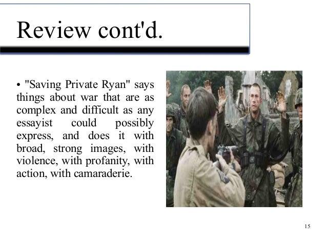 saving private ryan summary and analysis