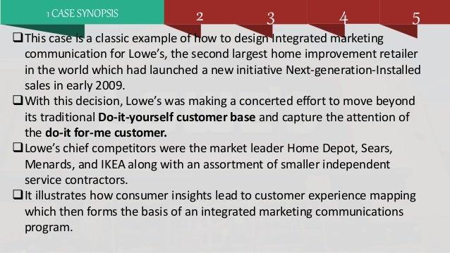 Lowes companies inc case study