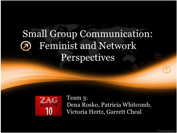 Small Group Communication:  Feminist and Network        Perspectives        Team 3:        Dena Rosko, Patricia Whitcomb, ...