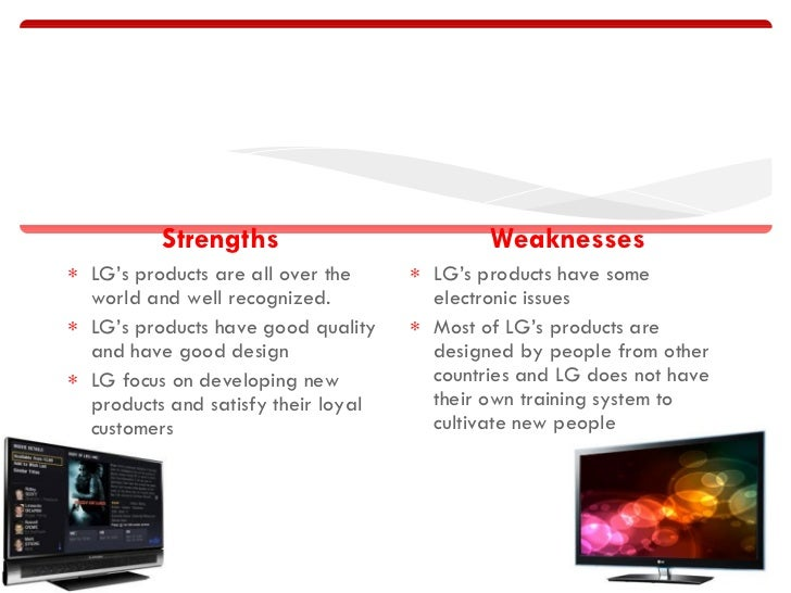 swot lg Find the latest and comprehensive swot & pestle analysis of lg electronics, a global leader in the field of mobile communications.