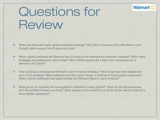 walmart global strategy While wal-mart's edlp (every day low prices) strategy has been very successful around the globe, it has been regarded as cheap and unsafe in china on the flip side, wal-mart's local.