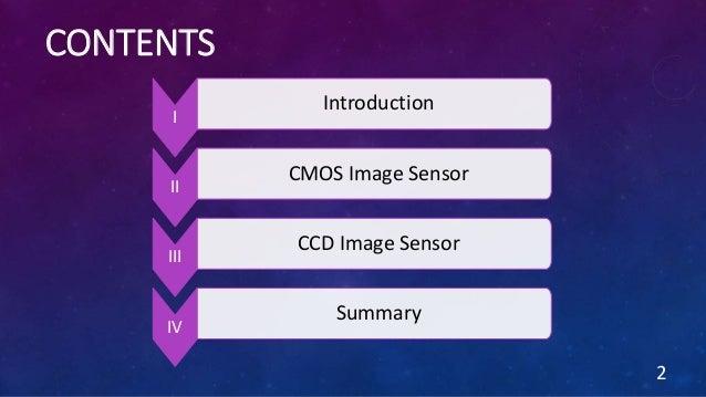 CONTENTS 2 I Introduction II CMOS Image Sensor III CCD Image Sensor IV Summary