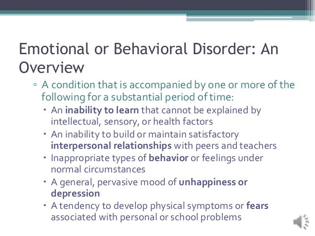 Classroom Design For Students With Emotional And Behavioral Disorders : Team