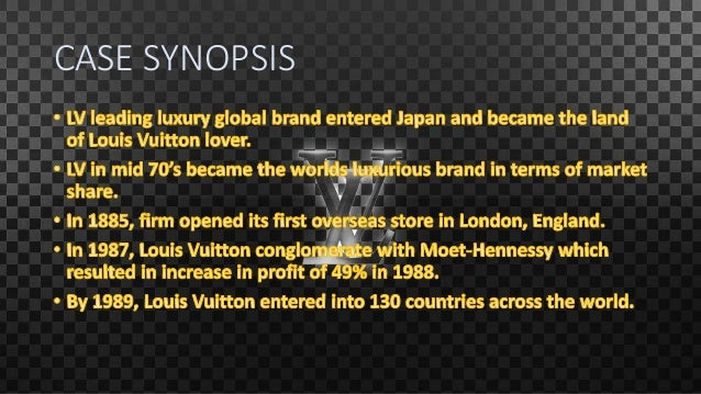 louis vuitton in japan case study essay View essay - christelmonk_mt460_unit 4 case_study from mt460 04 at kaplan university louis vuitton in japan 1 unit 4 louis vuitton in japan case study analysis kaplan university school of.