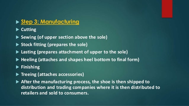 Supply Chain Of SHOE MANUFACTURING FIRM
