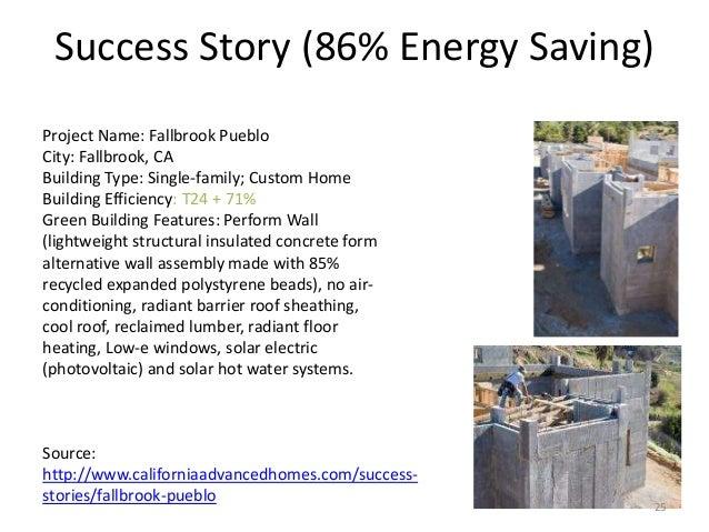 Success Story (86% Energy Saving) Project Name: Fallbrook Pueblo City: Fallbrook, CA Building Type: Single-family; Custom ...