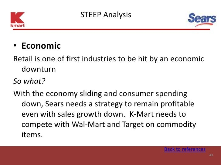 STEEP Analysis   • Economic Retail is one of first industries to be hit by an economic   downturn So what? With the econom...