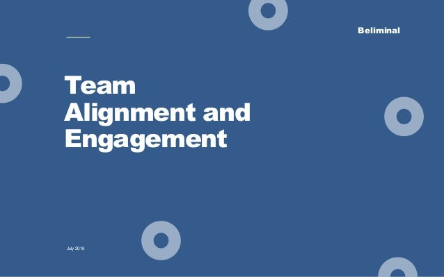 Beliminal Team Alignment and Engagement July 2016