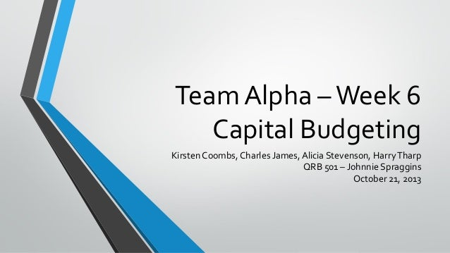 capital budget casem qrb 501 excel spreadsheet