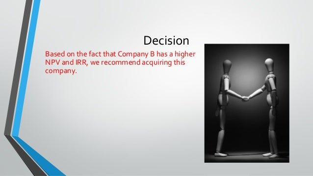QRB 501 Capital Budgeting Case_Your company is thinking about acquiring another corporation_Answer