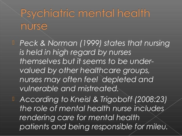 psychiatric mental health nursing standards of The american psychiatric nurses association (apna) is a professional association of psychiatric-mental health nursesfounded in 1986, it provides continuing education and a range of professional services to a membership of more than 9000 nurses.