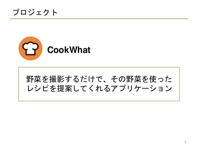 CookWhat  - 食材画像からのレシピ提案- Slide 3