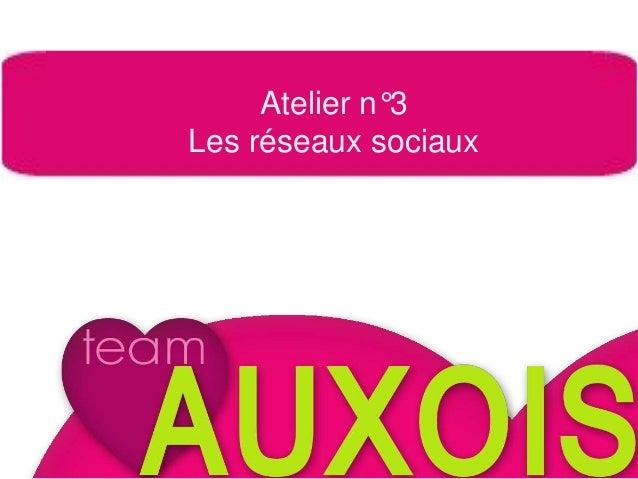 Tour de table Atelier n°3 Les réseaux sociaux