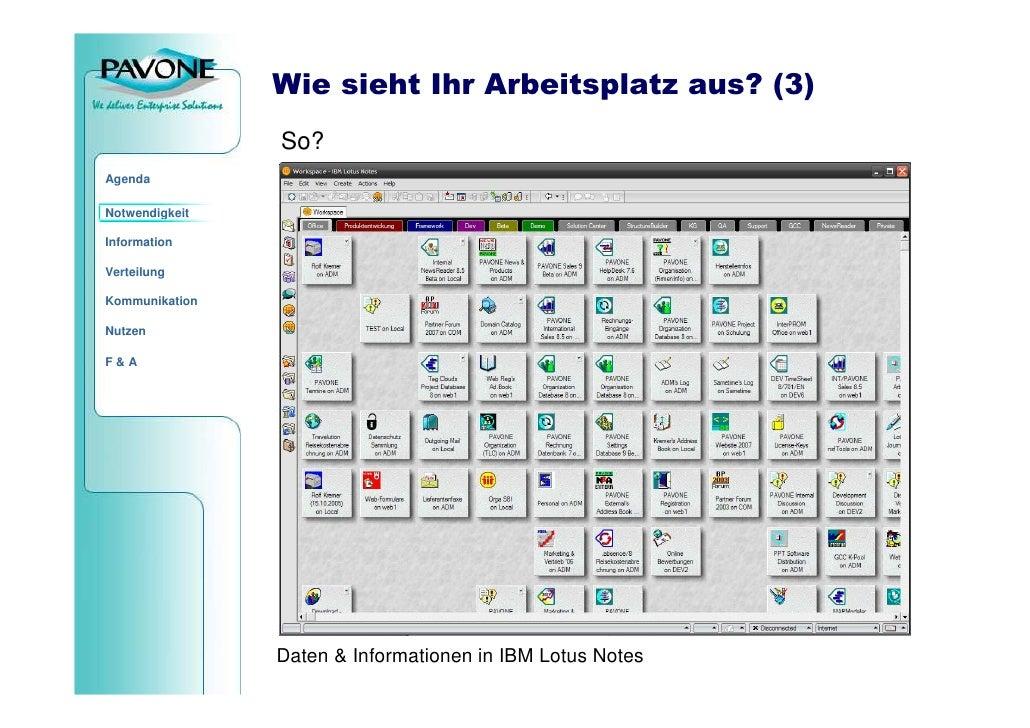 Wie sieht Ihr Arbeitsplatz aus? (3)                 So? Agenda  Notwendigkeit  Information  Verteilung  Kommunikation  Nut...