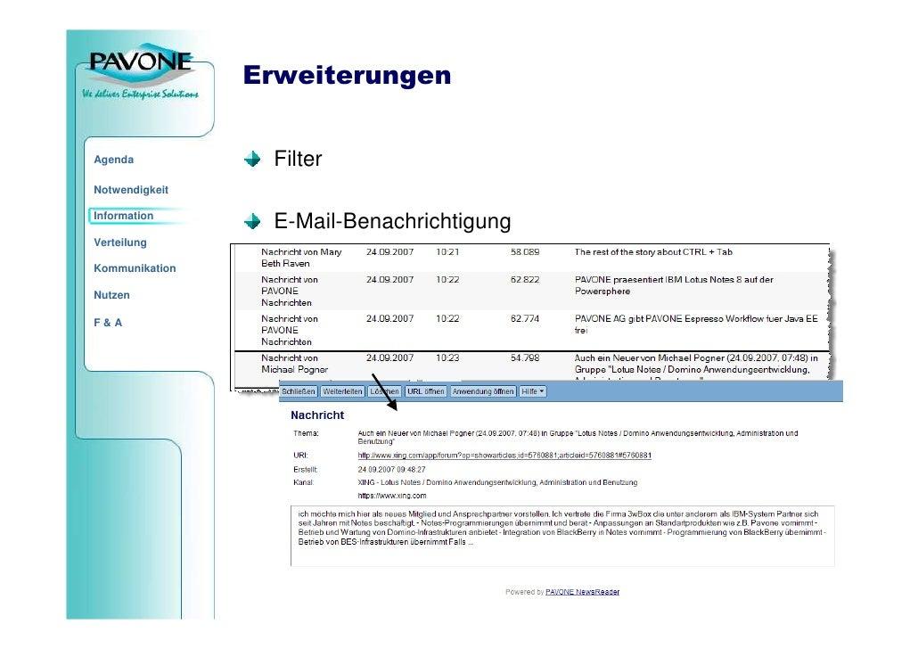 Erweiterungen                    Filter Agenda  Notwendigkeit  Information                  E-Mail-Benachrichtigung Vertei...