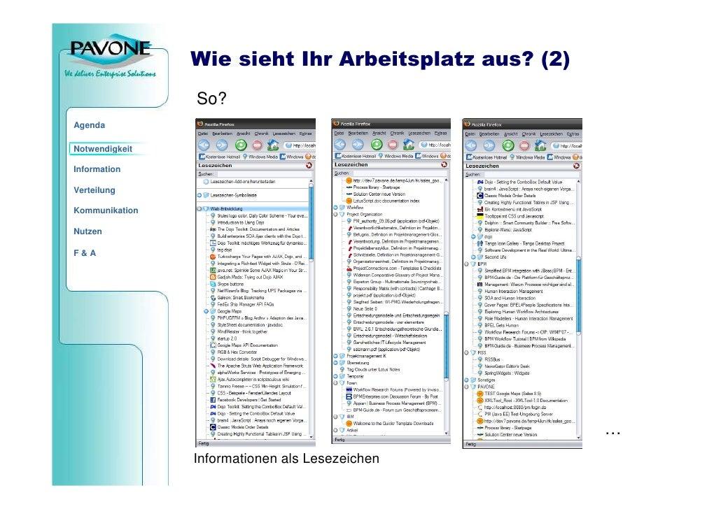 Wie sieht Ihr Arbeitsplatz aus? (2)                 So? Agenda  Notwendigkeit  Information  Verteilung  Kommunikation  Nut...