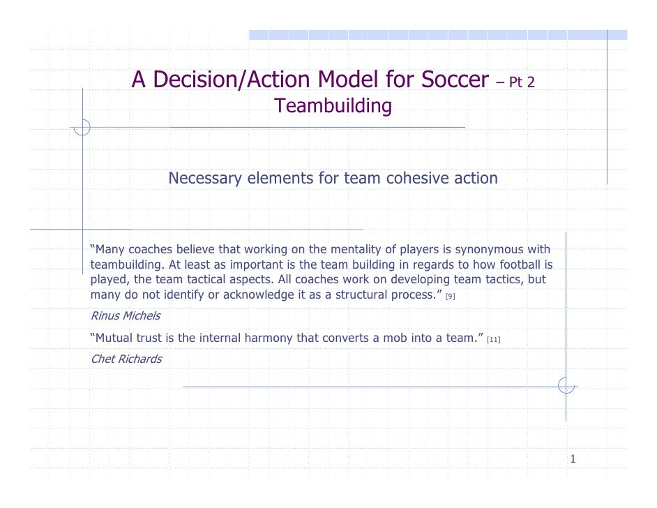 A Decision/Action Model for Soccer                                   – Pt 2                                  Teambuilding ...