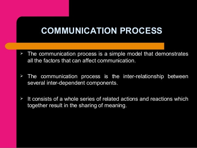 the effectiveness of the communication process Communication in health and social communication process and analyse the effectiveness of the communication process is influenced by.