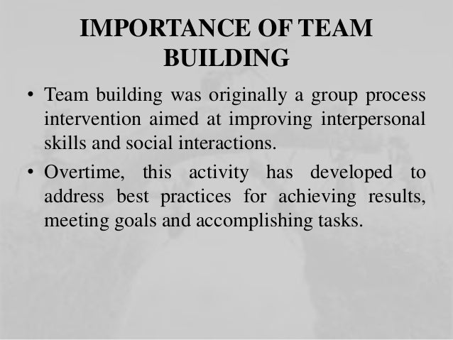 Importance of Team and Team Work