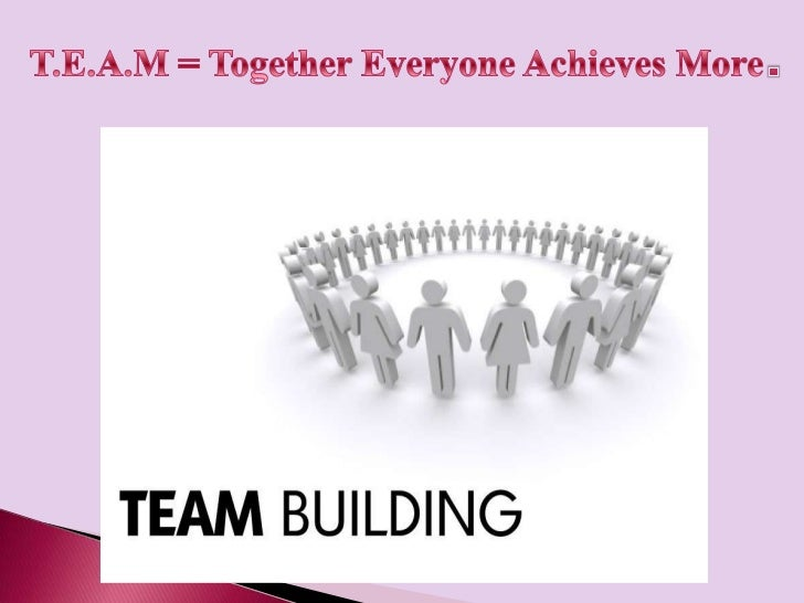 What is a team building?Here are some terms that are often used to describea team. Which ones do you think define what ate...
