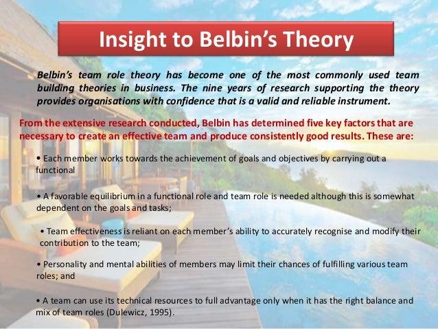 teambuilding meredith belbin framework