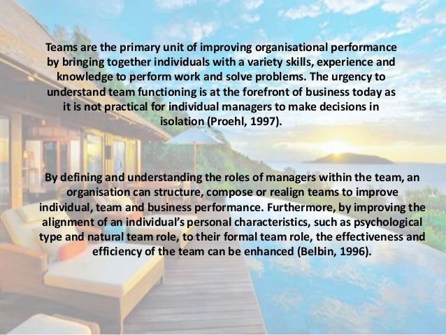 belbin framework View deedee smartt lynch's professional profile on linkedin belbin team roles gives a framework and a common language from which to explore and increase understanding of collective strengths and how to use these to best effect.