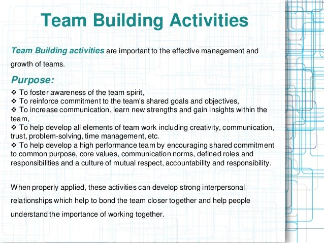 Team Building Activities