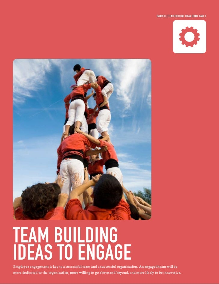 Baudville Team Building ideas eBook Page 8Team Buildingideas To engageEmployee engagement is key to a successful team and ...