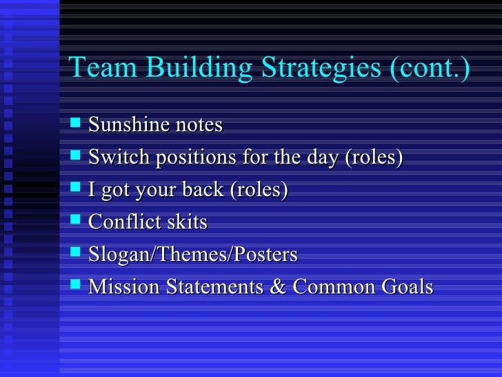 What are some slogans for team building?