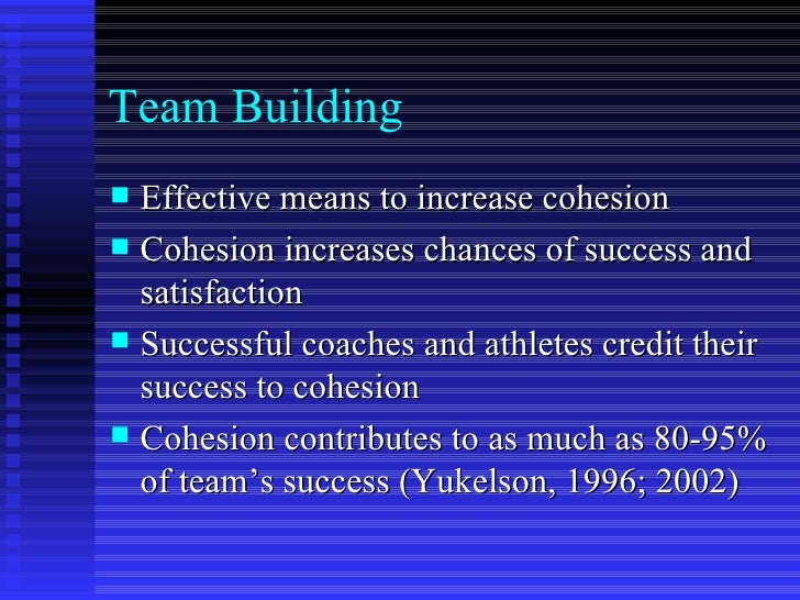 Building Of Team Harmony And Cohesion