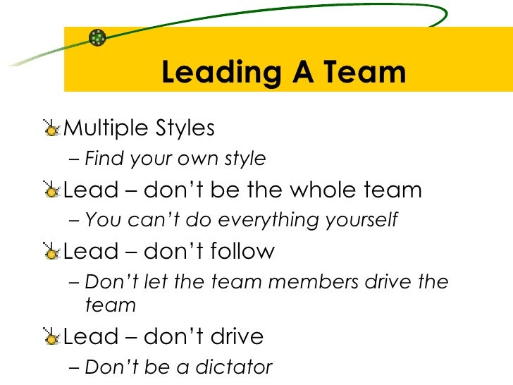 reccomendations for team lead leading teams This article gives a list of top 10 tips to be a successful team leader  but to  become a good team leader you should concern more about your team's success  and team member's career  recommendation and rewards.